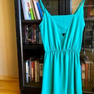 Kelly green Jack dress with chest cut out